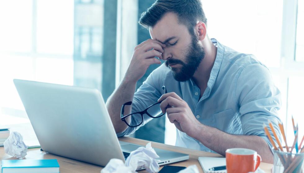 STRESS: Journalist er ett av yrkene som ansees som svært stressende. Illustrasjonsfoto: Scanpix.