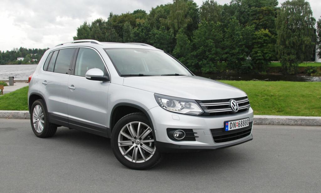 BEST I KLASSEN: Volkswagen Tiguan, årsmodell 2014, er kåret til mest driftssikre bil i sin kategori - små SUV-er. Foto: Cato Steinsvåg