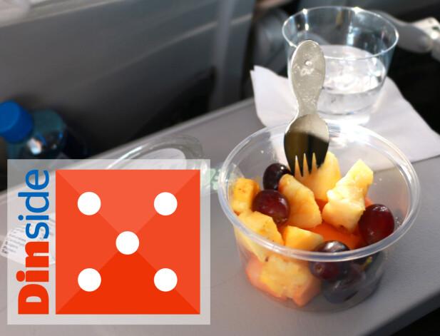 FRUKTSALAT: Fersk og fin fruktsalat. Tommel opp! Foto: Hanna Sikkeland