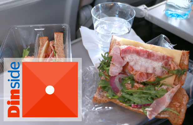 SANDWICH: Tørt brød som lukter mugg, dvask ruccola og null smak. Dette er for dårlig! Foto: Hanna Sikkeland
