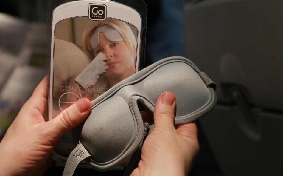 BESTE SOVEMASKE: Sovemasken fra Go Travel slo alle de andre maskene i testen ned i støvlene. Foto: Hanna Sikkeland.