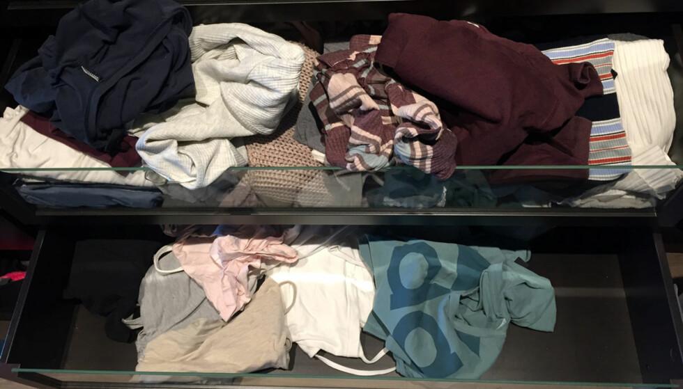 <strong>ROT:</strong> Det er lett for at garderobehyllene krasjer helt i hverdagen, men det er ikke vanskelig å rydde opp.