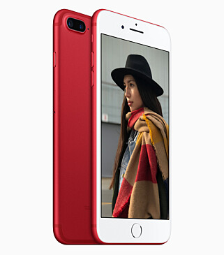 KNALLRØD: iPhone 7 Product(Red). Foto: Apple