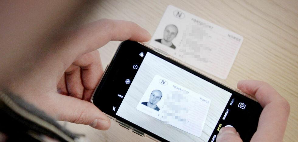 image: Advarer mot å sende bilder av ID-kort