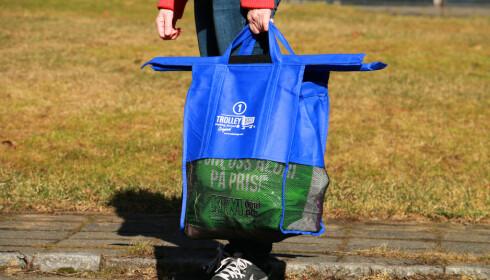 BÆRENETT: De minste nettene kan også brukes til bærenett om du bare skal gå til butikken og ha noe småtteri. Foto: Hanna Sikkeland