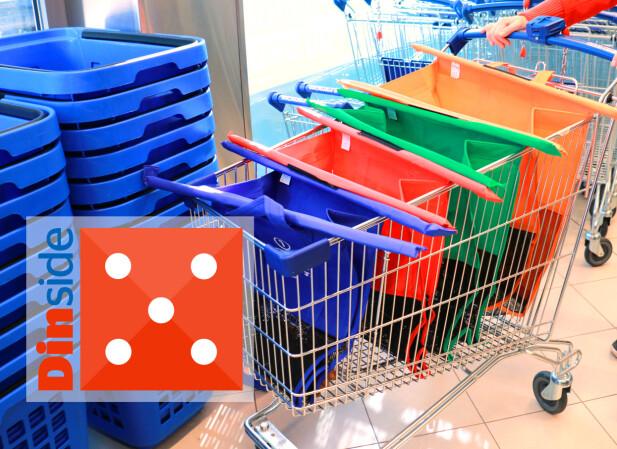 TROLLEY BAGS: Pakk rett i disse når du har betalt. Eller bruk de minste til småhandling. Kjekt! Foto: Hanna Sikkeland