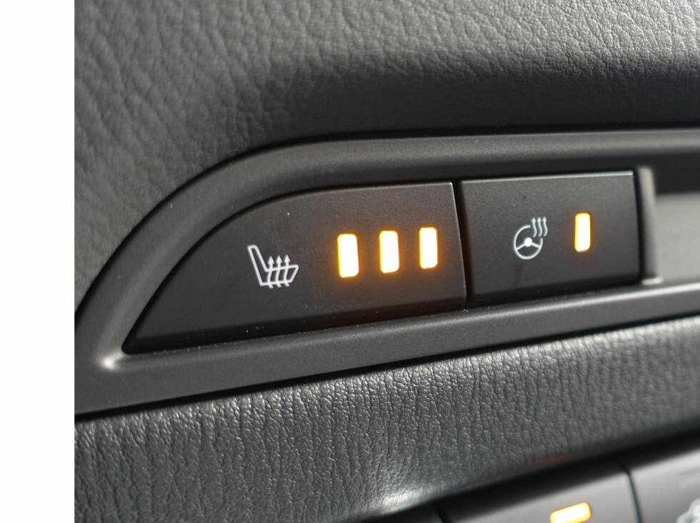 VARME LANKER: Nå har CX-5 også varme i gripeflatene. Foto: Rune M. Nesheim
