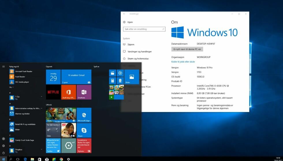 BUILD 15063: Ifølge flere kilder skal 15063 være nummeret på den neste, store Windows 10-oppdateringen, kalt Creator's update. Dinside har installert den, og her forteller vi deg om noe av det du har i vente. Skjermdump: Dinside