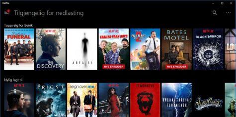 image: Nå kan du laste ned Netflix-innhold på PC-en