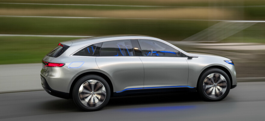 Fellesnevneren EQ: Meredes-Benz har laget et nytt familienavn på elbilene, EQ. Foto: Daimler