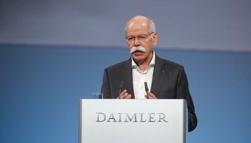 Satser: Dieter Zetsche takker finansiell styrke for muligjeten til å satse. Foto: Daimler