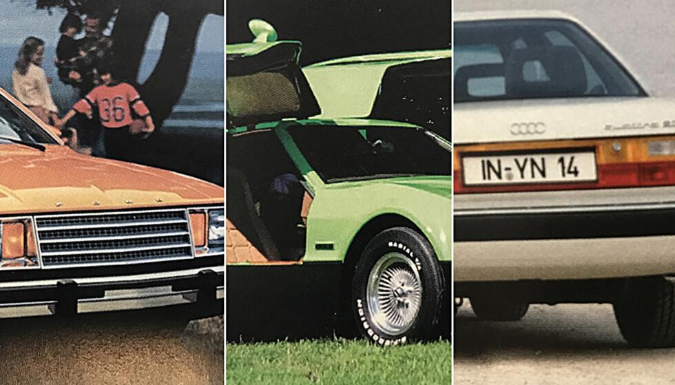 HISTORIENS DÅRLIGSTE BILER: Biler fra både USA, Italia og Tyskland har sneket seg med på vår liste.
