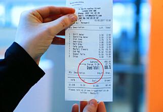 Ta en ekstra titt på regningen når du er i England