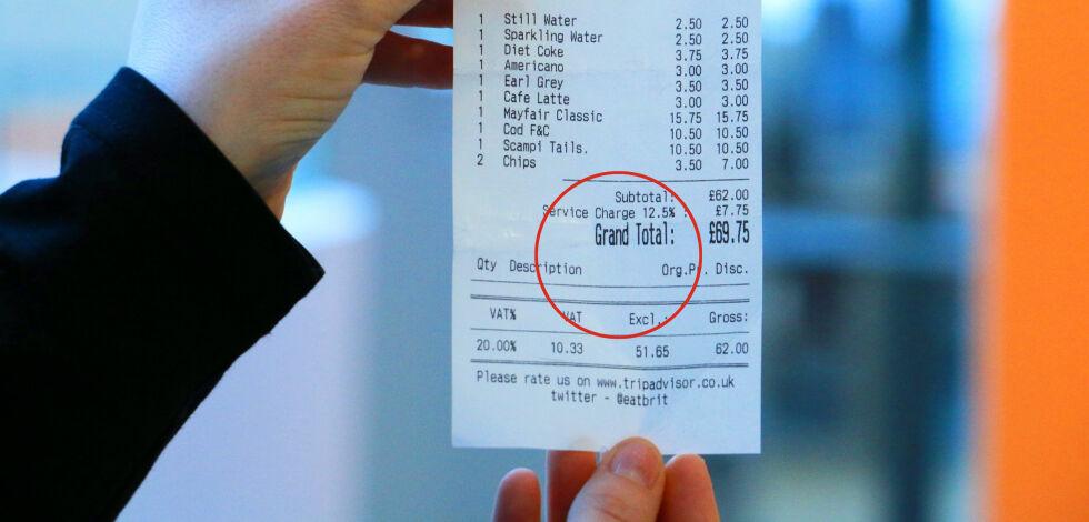 image: Ta en ekstra titt på regningen når du er i England