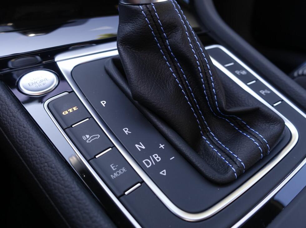 GTE: Bilen har et par knapper som endrer karakter og forbruk.