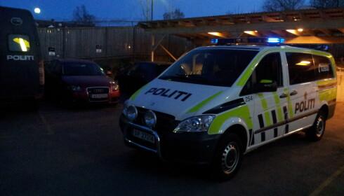 «CRUISE LIGHTS»: Slik ser de nye identifikasjonslysene til politiets utrykningskjøretøy ut. Forskjellen fra «vanlige» blålys er at disse er svakere og at de ikke pulserer. Foto: Politiet
