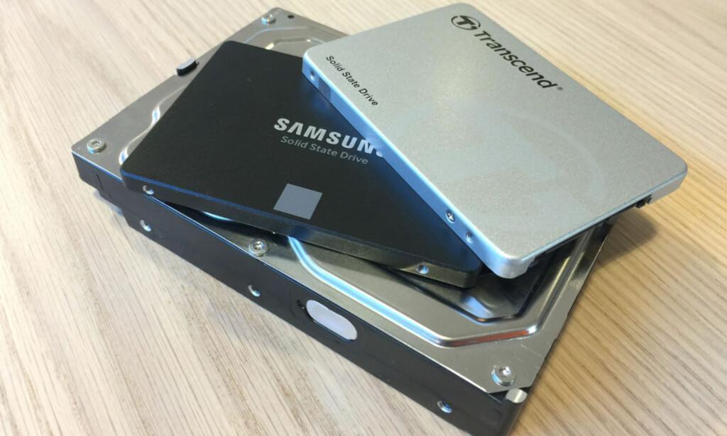 ENKELT: Enten du har stasjonær eller bærbar PC, vil det i de aller fleste tilfellene være mye å tjene i hastighet på å bytte ut den gamle harddisken med en ny SSD. Foto: Bjørn Eirik Loftås