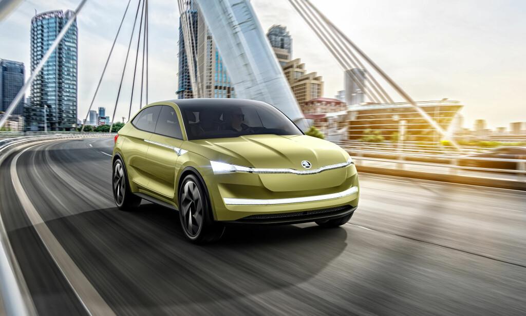 KUPÉ-FOMR: Bilen blir en slags crossover, med fem dører og kupé-lignende form. Foto: Skoda