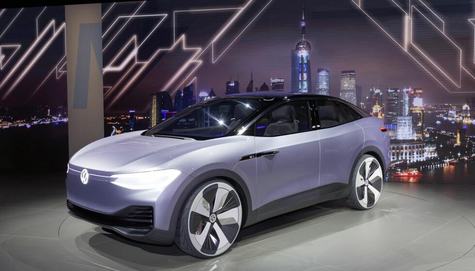 FREMTIDEN: VW I.D. Crozz har firehjulsdrift og to elmotorer. Foto: VW