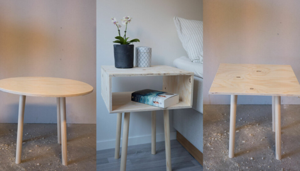 GJØR DET SELV: Det er både enkelt og rimelig å lage dine egne møbler. Foto: Simen Søvik.