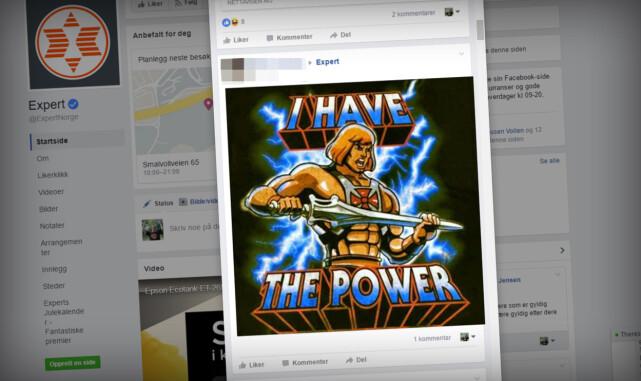 GÅR SIN GANG: Her er kundene i gang med å le av det nye Power-navnet til Expert. Det er ikke småtteri Expert må tåle på Facebook, for nordmenn elsker å hate. Foto: Ole Petter Baugerød Stokke
