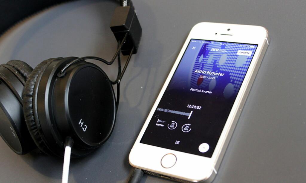NRK-APPEN: Mange radiokanaler har egen app. Det samme har også NRK. Om du vil høre radio fra hele verden er TuneIn tingen. Foto: Tore Neset