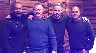HYGGELIG MØTE: Dinside møtte Top Gear-programlederne i London. Foto: Dinside