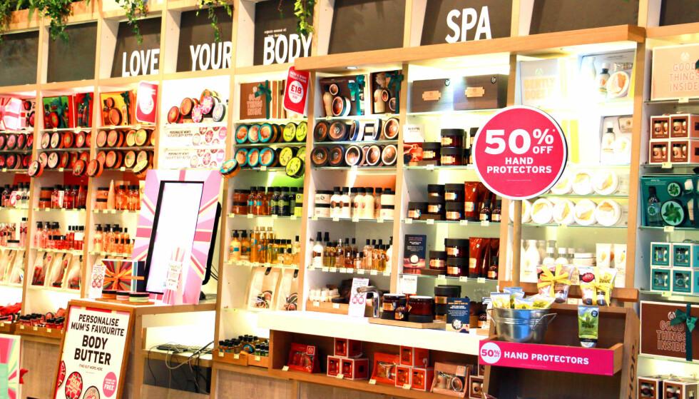MYE Å SPARE HOS BODY SHOP: Spar på kosmetikk- og velværeprodukter hos Body Shop. Foto: Berit B. Njarga