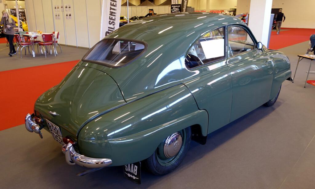 FRA FLY TIL BIL: Svenska Aeroplan AB lanserte sin første produksjonsbil, Saab 92, i 1949 og klarte å selge 20.000 eksemplarer frem til et stykke utpå 50-tallet. Foto: Knut Moberg