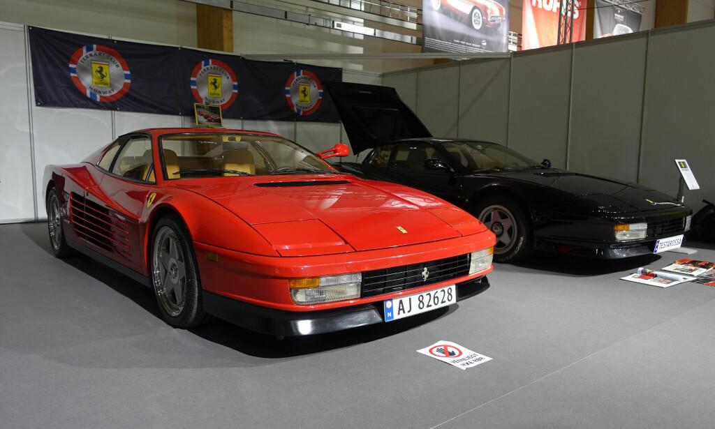 80-TALLETS DRØMMEBIL: Ferrari Testarossa - et 12-sylindret fartsmonster fra jappetiden. Foto: Knut Moberg