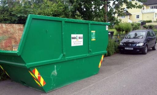 image: Se hva som skjedde da en åpen container sto på gata