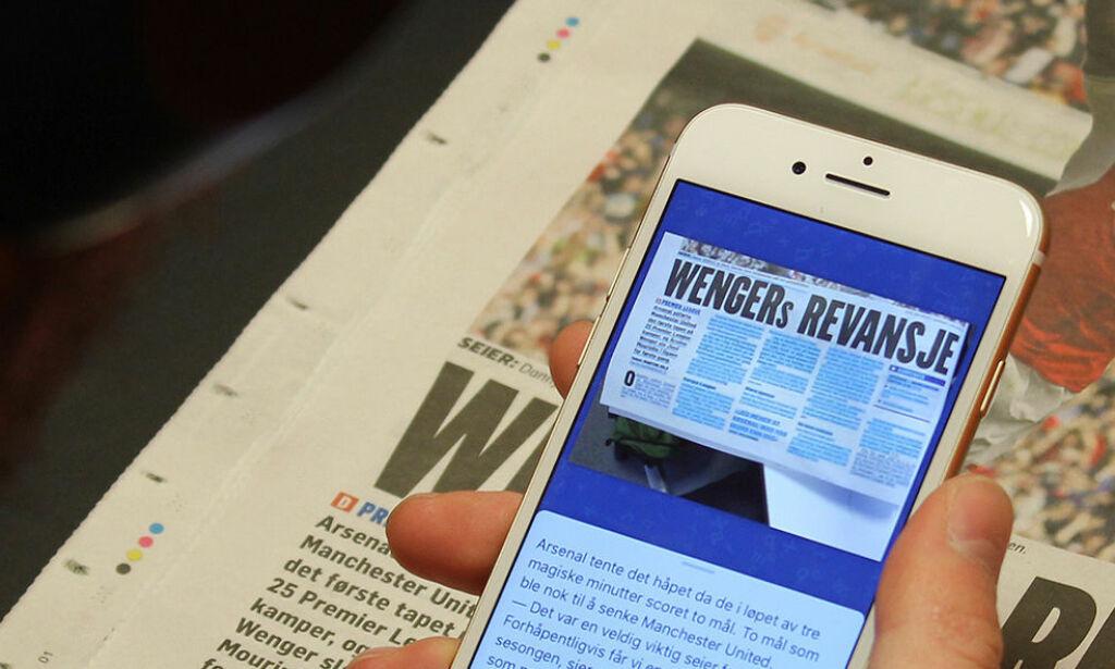 image: Denne appen leser papiravisen høyt for deg!