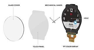 FLERE LAG: Her ser du hvordan klokka er bygd opp. Klikker du på bildet får du en større versjon. Foto: Produsenten