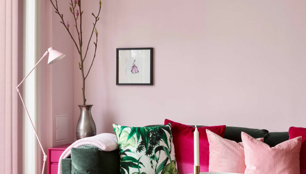 DUS: Ifølge Henningsen, er det flere og flere som velger rosa toner, som regnes som den nye nøytrale fargen. Foto: Sveinung Bråthen/Christine Hærra/Fargerike.