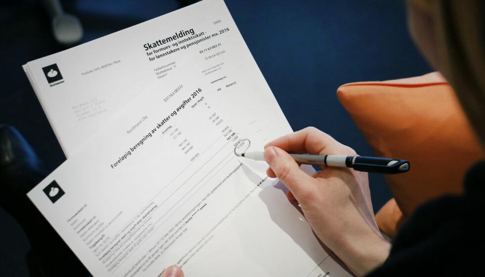 HUSK RIKTIG KONTONUMMER: Dersom Skatteetaten har registrert riktig kontonummer på deg, sikrer du at skattepengene ikke blir forsinket når utbetalingene begynner i slutten av juni. Foto: Ole Petter Baugerød Stokke