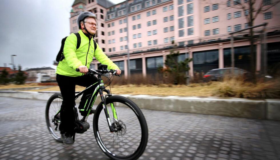 TRIM: Elsykling er langt bedre for helsa enn bilkjøring. Foto: Ole Petter Baugerød Stokke