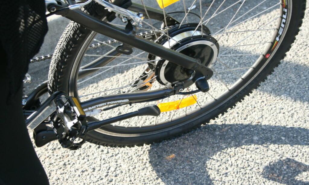 HJULMOTOR: En motor som denne finner du ofte på rimeligere sykler. Men det trenger ikke være noen dårlig løsning. Foto: Tore Neset