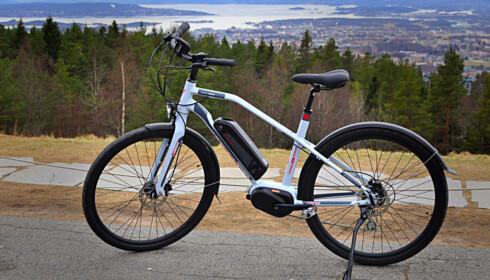 GODT KJØP: XXL-sykkelen Velo Energy Boost USX er et godt kjøp i den rimelige klassen. Foto: Tore Neset