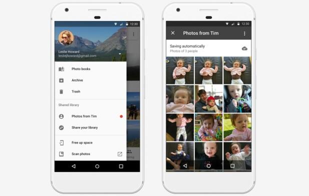 AUTOMATISK DELING: Snart kan du sette opp Google Foto slik at alle bilder du tar av barna automatisk deles med kona. Foto: Google