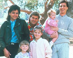 TRENGTE PLASS: Bob Saget (til høyre) og de andre i TV-serien «Under samme tak» hadde behov for stor bil om de skulle reise sammen.