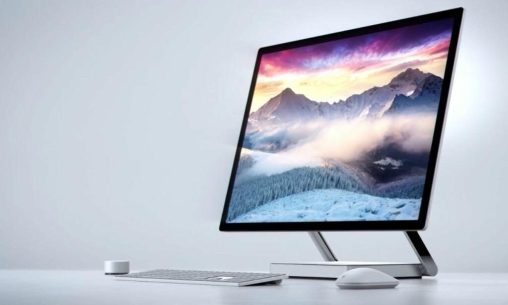 SURFACE STUDIO: Alt-i-ett-PC som er myntet på brukere som ønsker kreativ utfoldelse. Foto: Microsoft
