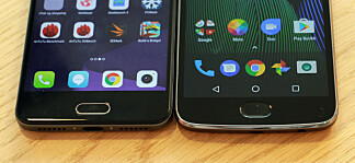 FINGERAVTRYKK: Telefonene fra Motorola og ZTE kan by på fingeravtrykksleser, som er mangelvare hos Sony. Foto: Pål Joakim Pollen