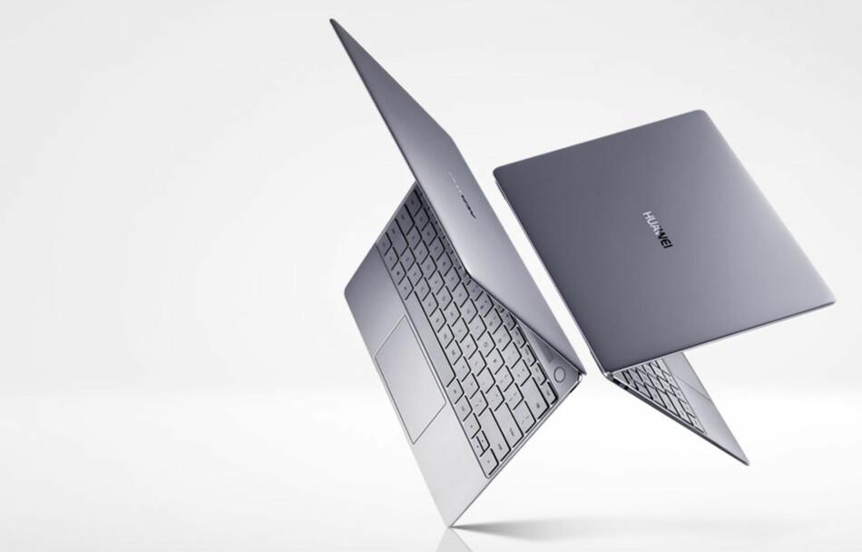 LEKKER: Matebook X er en 13-tommers ultrabook med svært tynne skjermkanter. Den kommer i butikkene i august. Foto: Huawei