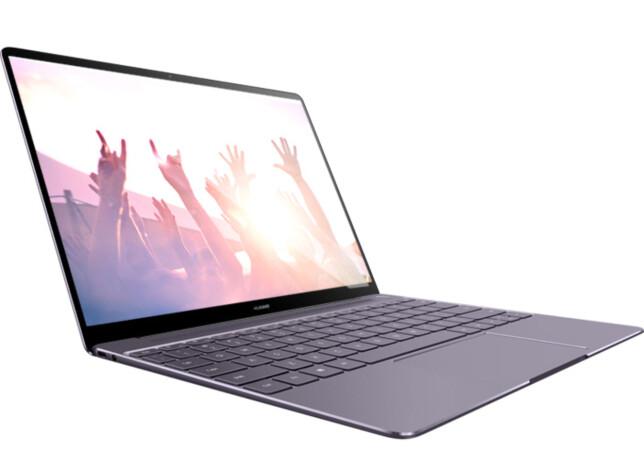 """TYNNE RAMMER: Matebook X har 4,4mm tykke skjermkanter på sidene. Dermed får man nesten en 12""""-formfaktor selv om skjermen er 13"""". Foto: Huawei"""