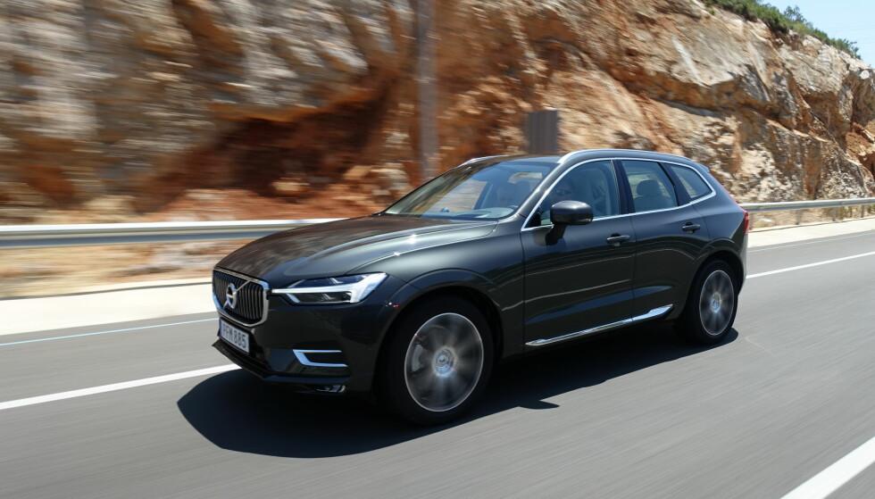 MED HAMMER: Designen i front er kjent fra Volvos nyeste modeller, fra XC90 til S- og V90. Foto: Fred Magne Skillebæk