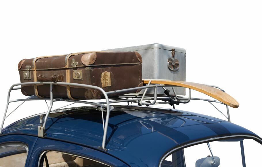 <strong>DA VI TENKTE KOFFERT:</strong> Takgrind var det hotte før i tia. Nå er den erstattet med en fancy skiboks i bilens farge. Foto: NTB/SCANPIX