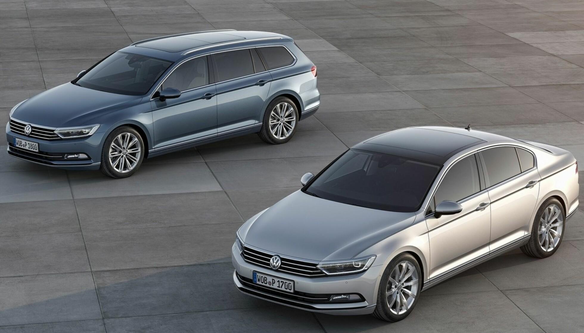 Slik ser dagens Passat-modeller ut. Foto: VW