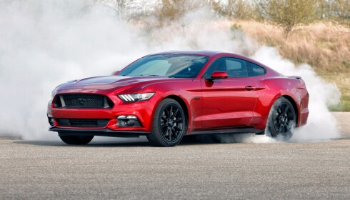 HEFTIG: Ford Mustang fra 2016. Foto: Ford