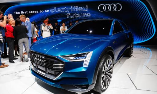 BRÅKEBØTTER: Audi med flere vil konkurrere med Tesla om familiebilsegmentet. Spørsmålet blir om de skal bråke mer enn de mindre bilene. Foto: Rune Nesheim