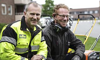 Vaktmestere: Thomas Barth og Kjell Magne Bergh var våre eksperter i denne testen. Barth er maskinfører og Bergh er vaktmester. Begge jobber hos Vaktmester Andersen i Oslo. Foto: Øivind Lie-Jacobsen